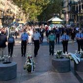 Homenaje en Barcelona a las víctimas de los atentados de Las Ramblas y Cambrils