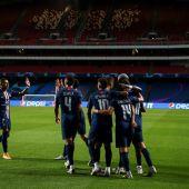 El PSG celebra su gol ante el Leizpig.