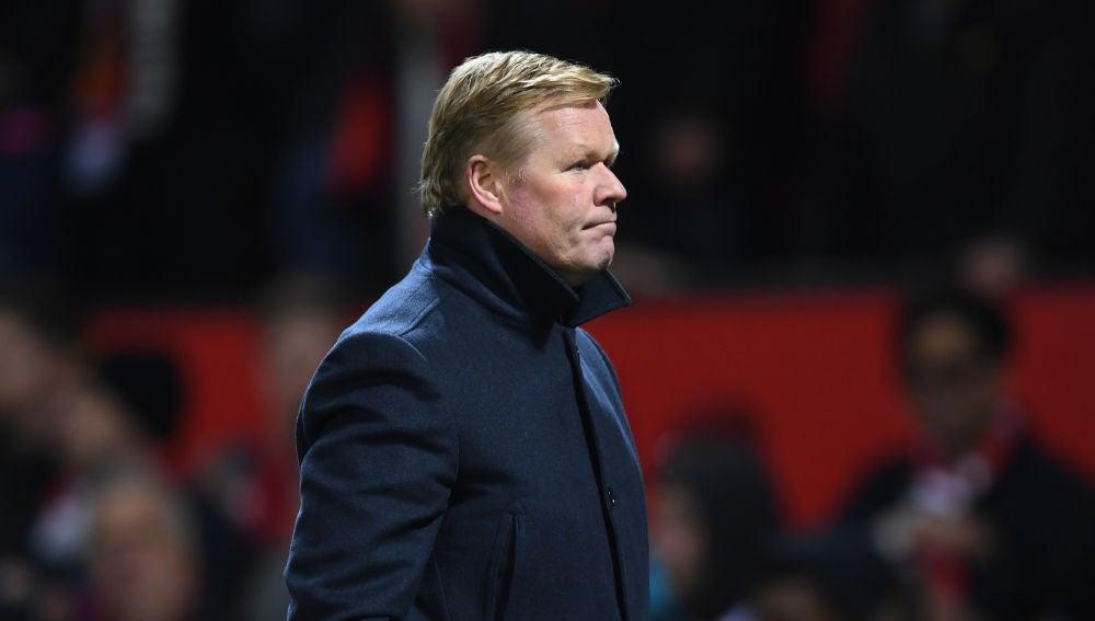 Ronald Koeman, en un partido de la selección holandesa