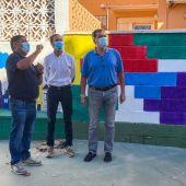Visita del Alcalde de Sanlúcar y el primer teniente de Alcalde al colegio