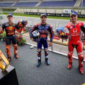 Podium del GP Estiria 2020 de Moto GP