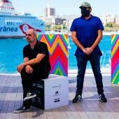 El director y los actores de la película 'Hasta el cielo', en el photocall del 23 Festival de Málaga