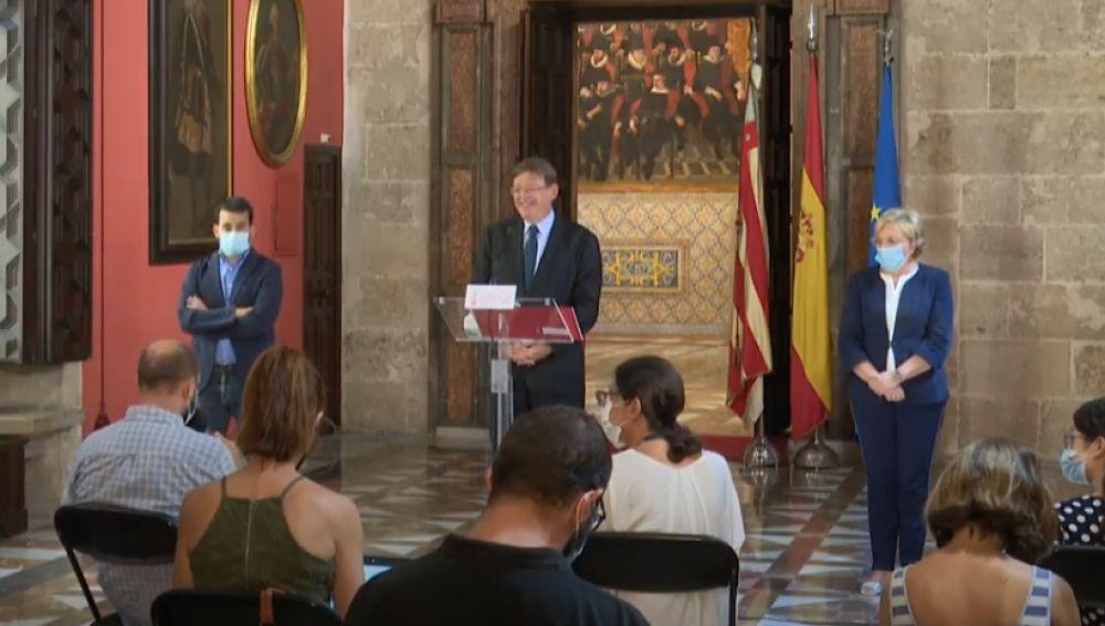 Ximo Puig, Vicent Marzà y Ana Barceló.