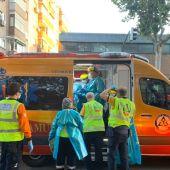 Imagen de archivo de una intervención de los servicios de Emergencias en Madrid