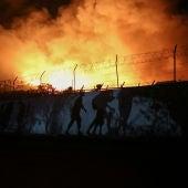 Incendio campo de refugiados Lesbos