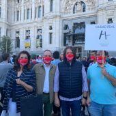 Representación de los hosteleros de Ciudad Real en la concentración de Madrid