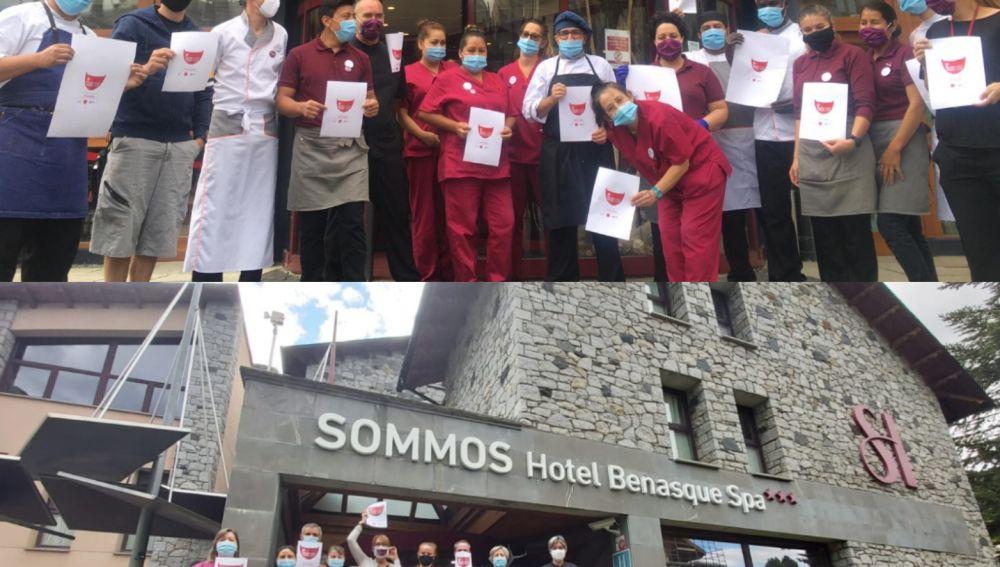 Concentración de los hosteleros de Huesca