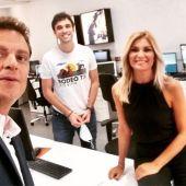 Junto a Sandra Golpe y Pablo Gallego