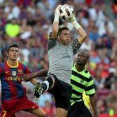 Juan Calatayud, en el Camp Nou.