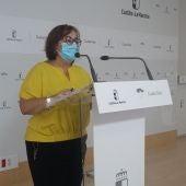 Manuela Nieto-Márquez durante la rueda de prensa
