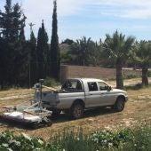 Vehículo georradar en el Yacimiento de La Alcudia