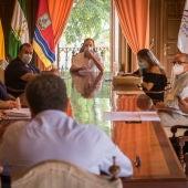 Reunión en el Ayuntamiento de Sanlúcar