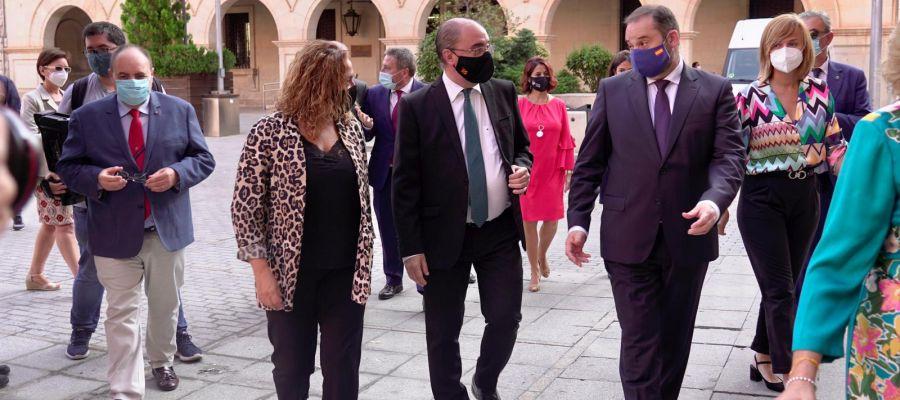El ministro Ábalos en su visita a Teruel