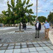Obras en la plaza de la Avenida de Trebujena