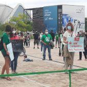 Concentración huelga convocada por CGT Enseñanza