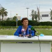 La delegada territorial de la AEMET Baleares, María José Guerrero, en una rueda de prensa