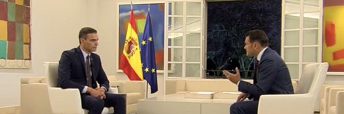 El presidente del Gobierno, Pedro Sánchez, en laSexta Noche