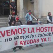 Concentración de la hostelería de Ciudad Real