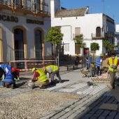 Prosiguen las obras en la calle Corredera