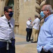 Los ediles de Deportes y de Mantenimiento de Alicante