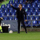 El entrenador del Getafe, José Bordalás.