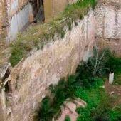 Restos de la muralla árabe en el barrio del Carmen