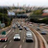 Movimiento en la salida de Madrid por la autopista A-6 el viernes 2 de octubre