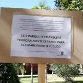 El Ayuntamiento cierra parques y jardines