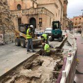Excavaciones arqueológicas en la calle Uberna.