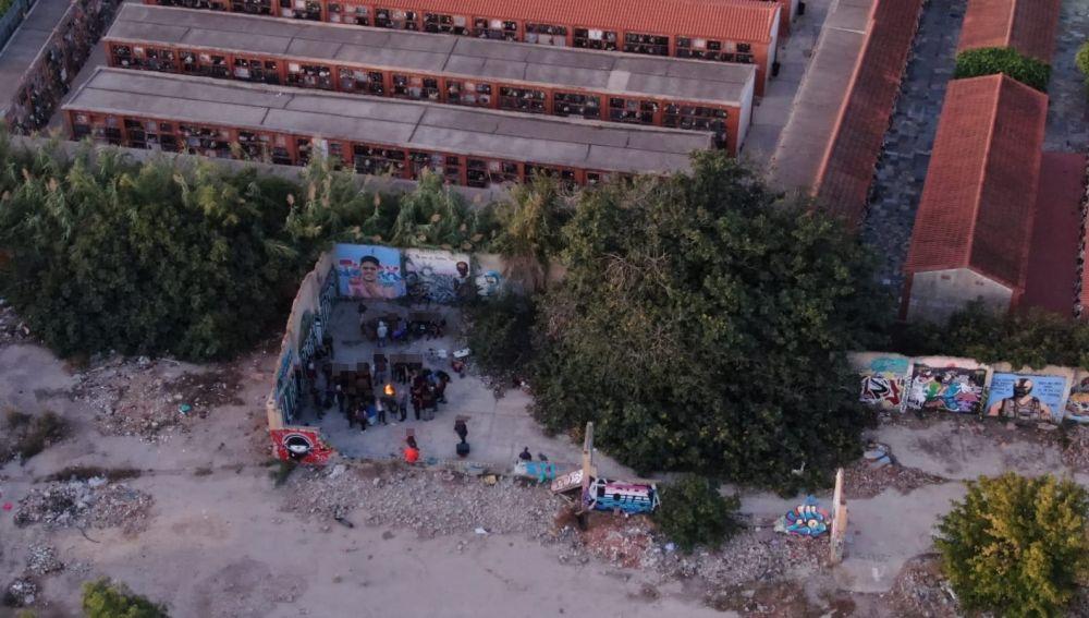 Imagen aérea de la fiesta ilegal