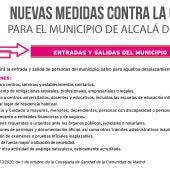 Nuevas restricciones Covid-19 en Alcalá de Henares