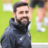 El entrenador del Sporting, David Gallego.