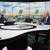 El ministro de Justicia, ,Juan Carlos Campo, durante la entrevista que ha tenido en Más de uno de Onda Cero con Carlos Alsina