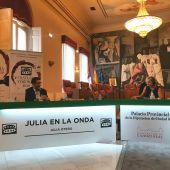 José Manuel Caballero durante la entrevista con Julia Otero