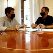 Carlos Mazón y Bernabé Cano, en una reunión.
