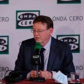 Ximo Puig, presidente de la Generalitat Valenciana, durante una entrevista en Onda Cero