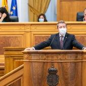 Emiliano García-Page durante su intervención en el Debate sobre el Estado de la Región
