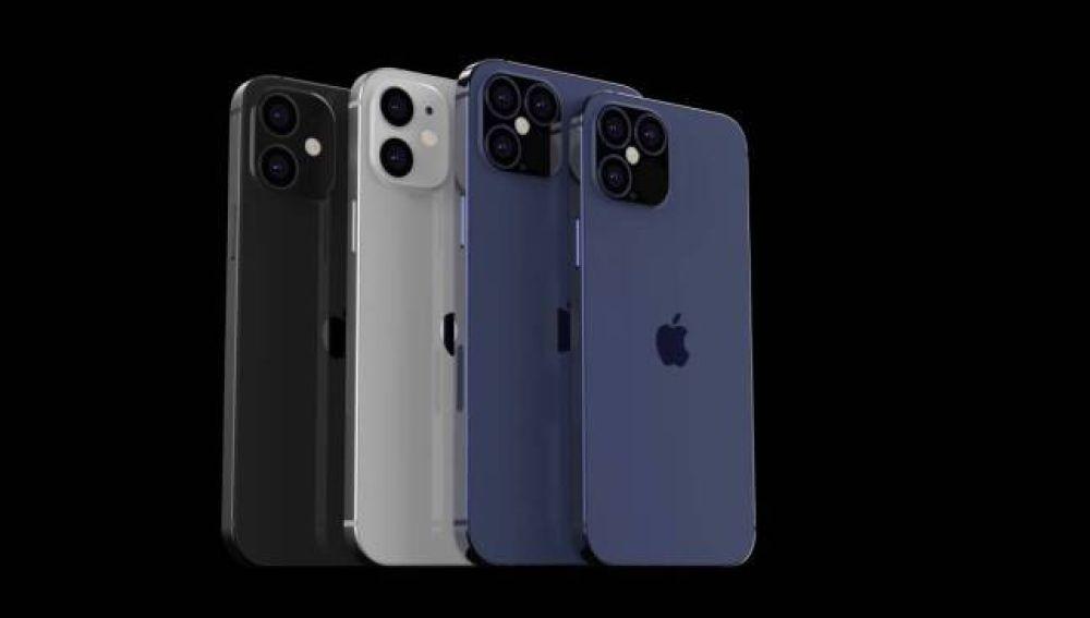 Cuatro modelos iPhone 12