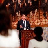 El president Ximo Puig durante el discurso con motivo del día de la Comunitat Valenciana.
