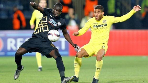 Imagen del partido entre el Villarreal y el Osmanlispor.