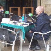 Telmo Ucha no café de redaccion de Onda Cero Ourense
