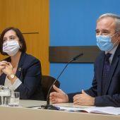 Imagen de archivo de Sara Fernandez (Ciudadanos) y Jorge Azcón (PP)