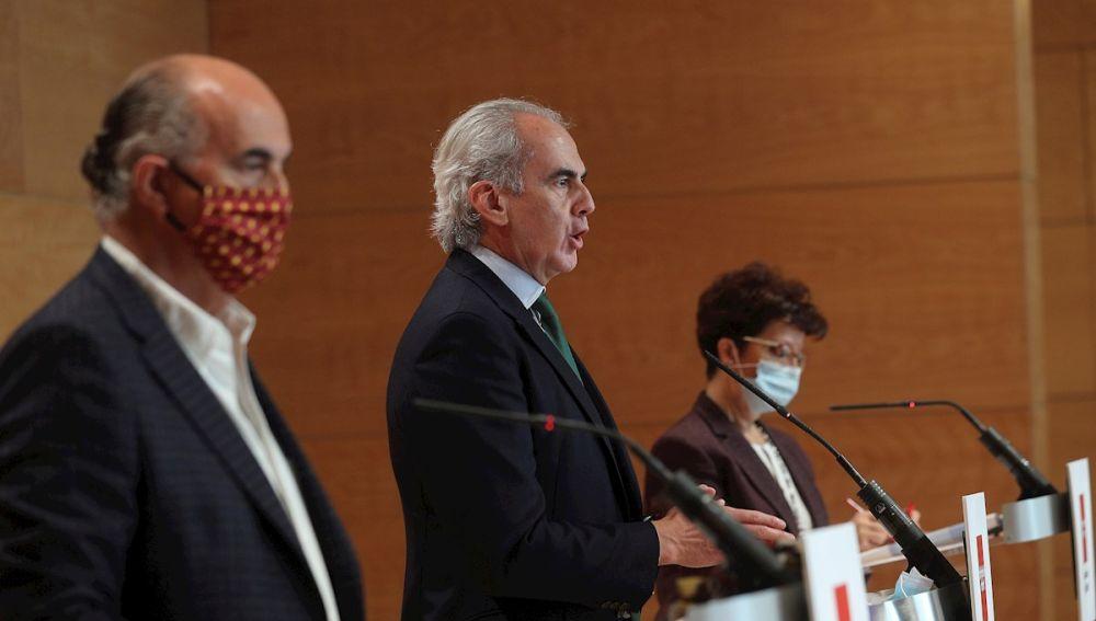 Antonio Zapatero, Enrique Ruiz Escudero y Elena Andradas