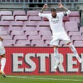 Sergio Ramos celebra el gol ante el Barcelona