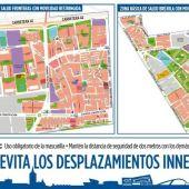 Planos zonas básicas de salud La Brújula y Las Fronteras