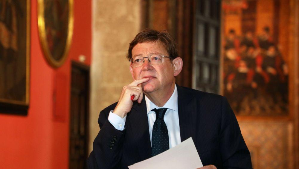 Ximo Puig en el Palau de la Generalitat.