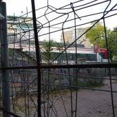 Pasarela sobre vías del tren en el barrio de Los Nogales, Alcalá de Henares