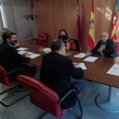 Reunión de la consellera Mireia Mollà y el consejero de Agricultura en Riegos de Levante de Elche.