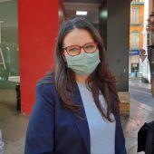 Mónica Oltra en el edificio Prop del Consell en Alicante