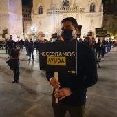 Concentración en Castellón por el ocio nocturno.